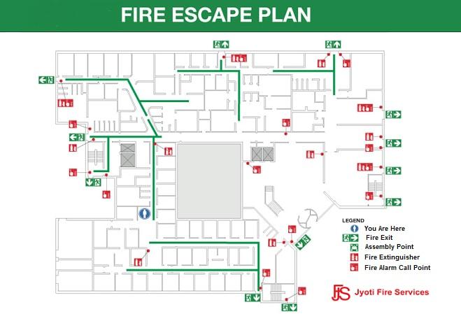 Fire Escape Plan Signage