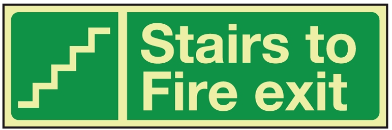 Stairs Fire Exit Signage