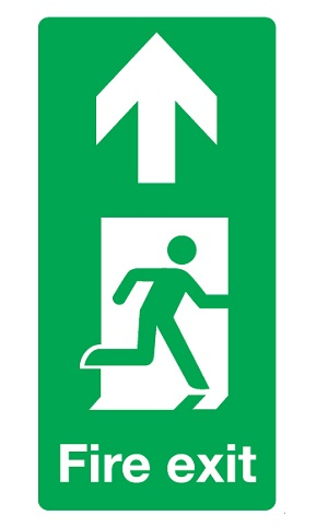Fire Exit Up Signage