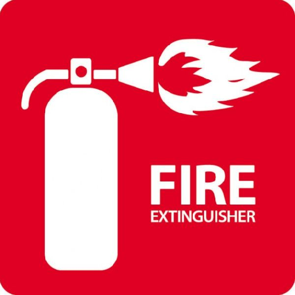 Metal Fire Extinguisher Signage 02