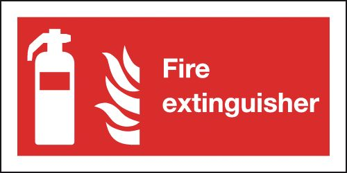 Metal Fire Extinguisher Signage 01