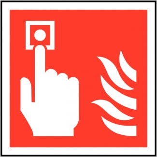 Metal Fire Alarm Call Point Signage 01