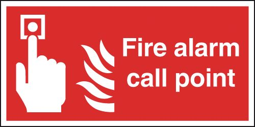 Metal Fire Alarm Call Point Signage 02