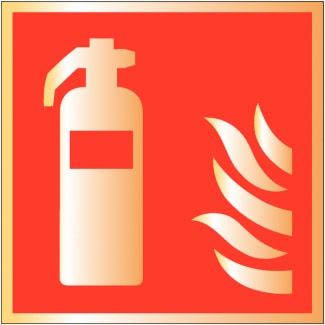 Metal Fire Extinguisher Signage 03
