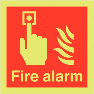 Nite-Glo Photoluminescent Fire Alarm Call Point Signage