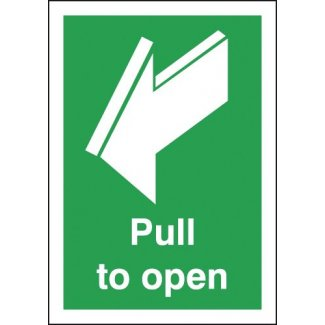 Pull To Open Signage