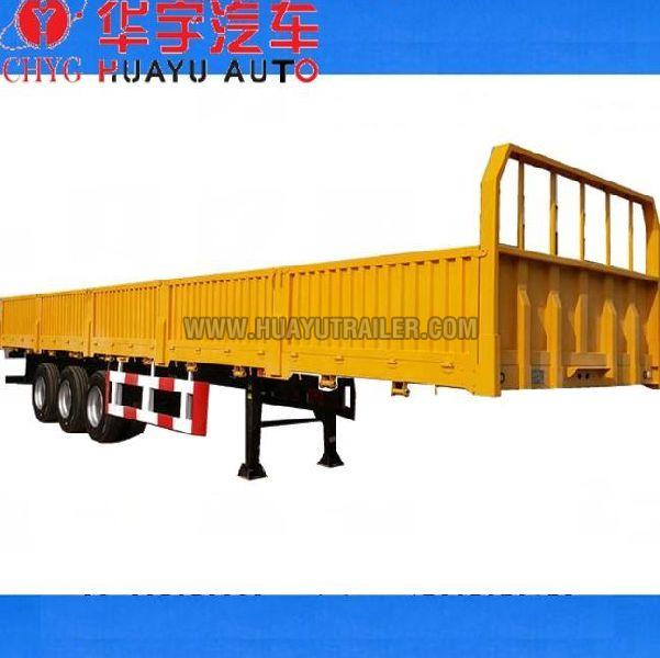 3 Axle semi trailer with side board