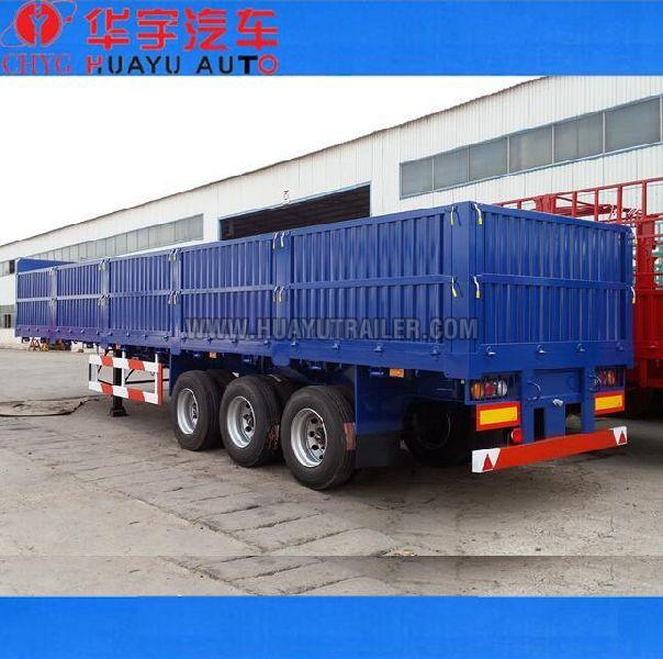 3axle 40ft flatbed Semi Trailer with side board