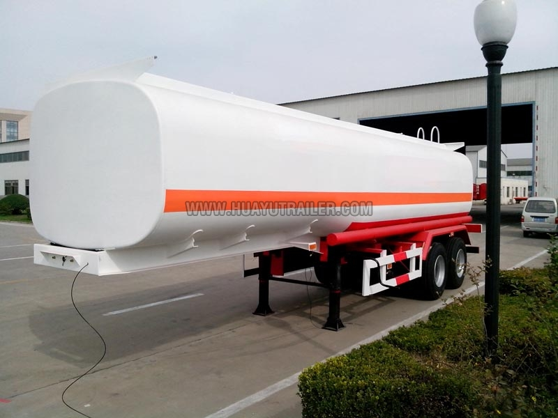Two Axle Chemical Liquid Tanker Semi Trailer