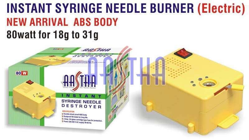 Instant Electric Syringe Needle Burner (ABS Body)