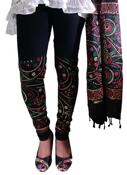 Block Printed Leggings & Dupatta 01