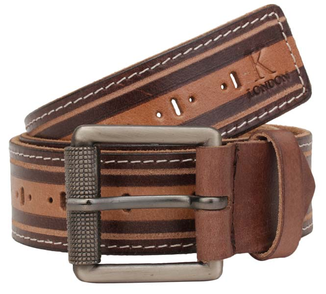 Men's Casual Brown Genuine Leather Belt
