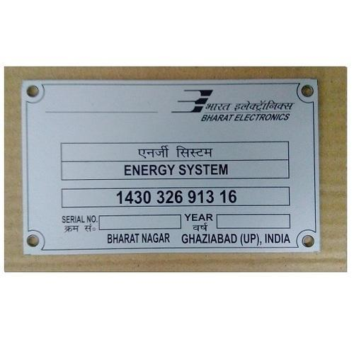 Chemically Etching Name Plate 04