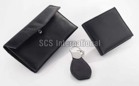 Leather Wallet Set