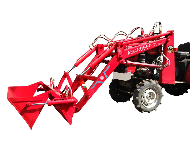 Mini Tractor Mounted High Dump Loader