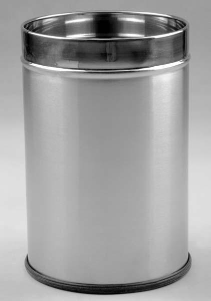 Paddle Plain Metal Dustbin