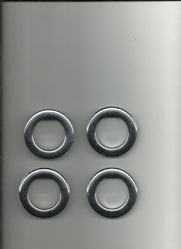 Silver Plated  Plastic Curtain Eyelets