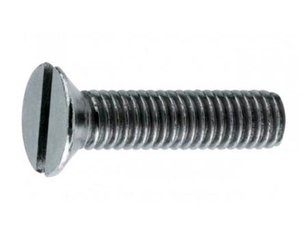 Countersunk Head Slot Machine Screws