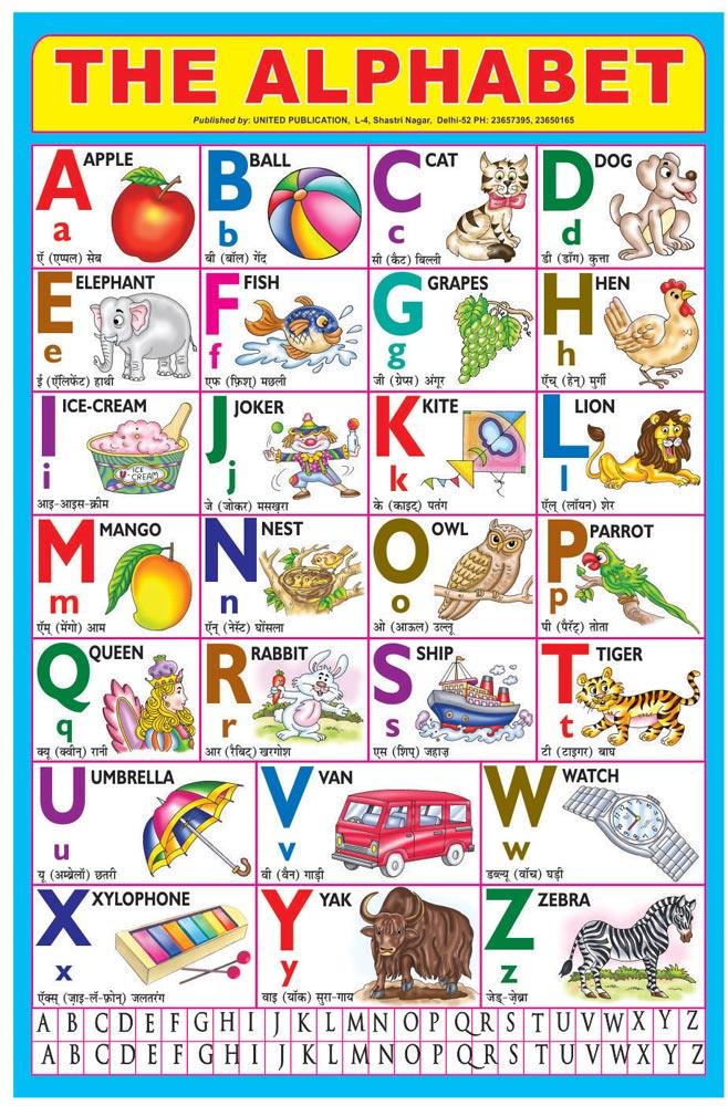 20x30 English Alphabet Charts