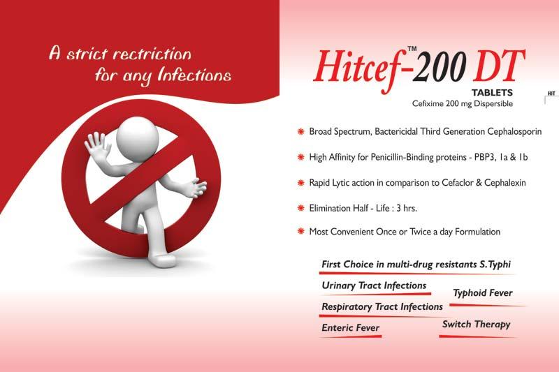 Hitcef-200 Mg DT Tablets