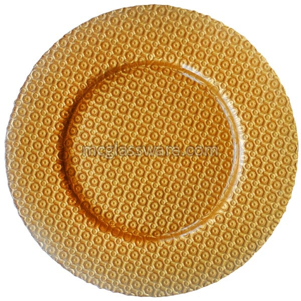 Carmen Gold Glass Charger Plates