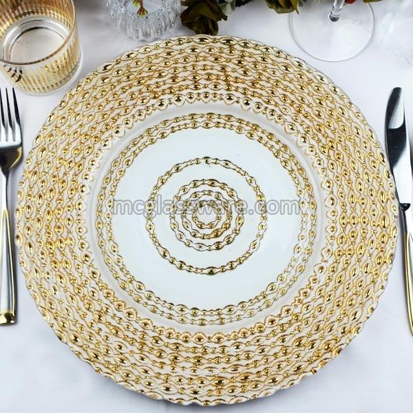 Golden Harvest Charger Plates