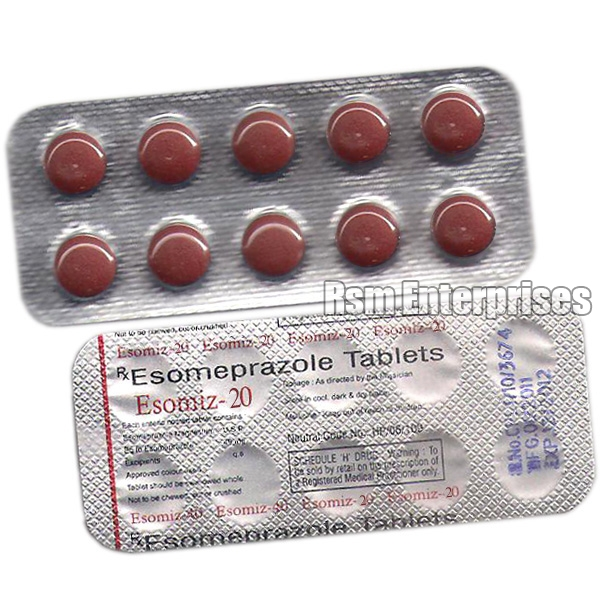 Esomiz 20mg Tablets