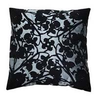Tangy Grey Flocked Cushion Covers