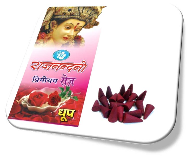Rajnandini Premium Rose Red Incense Cones