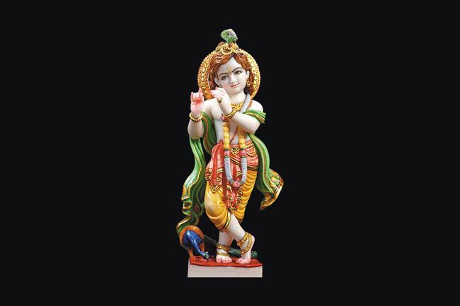 Marble Krishna Statue 02
