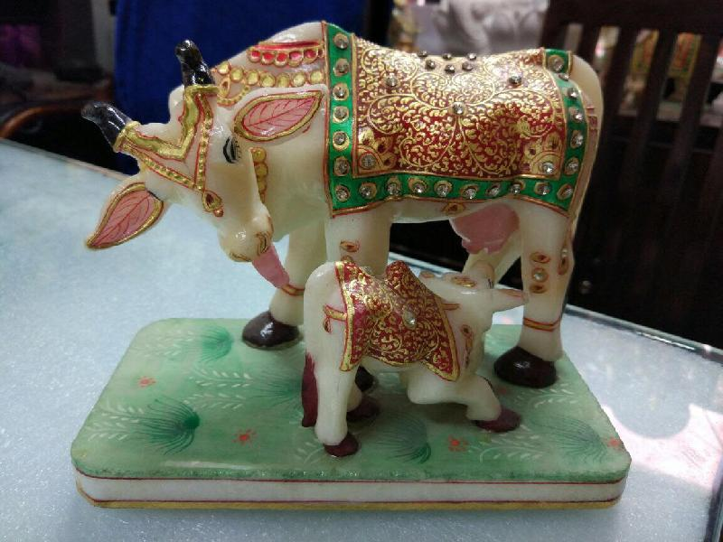 Marble Cow Statues
