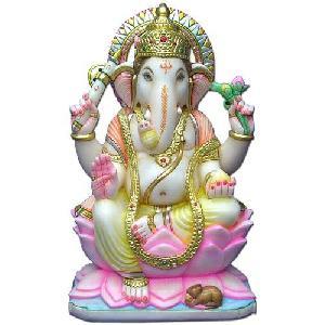 Marble Ganesh Statue 01