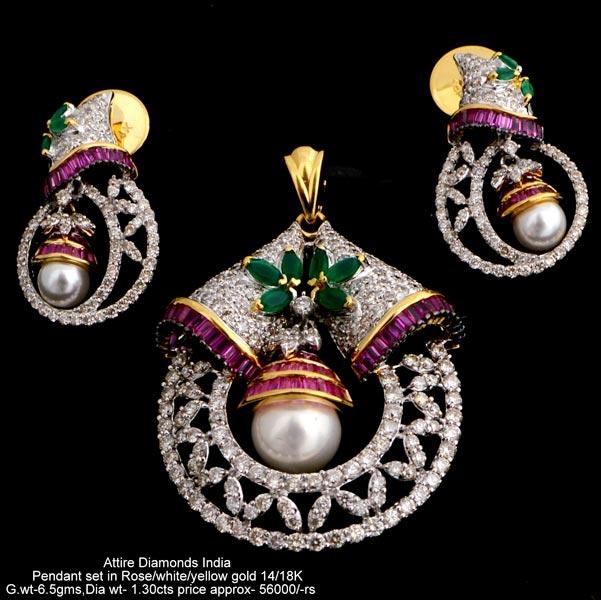 Heavy weight diamond pendant sets manufacturer supplier in meerut india heavy weight diamond pendant setsatpds cd51 aloadofball Image collections
