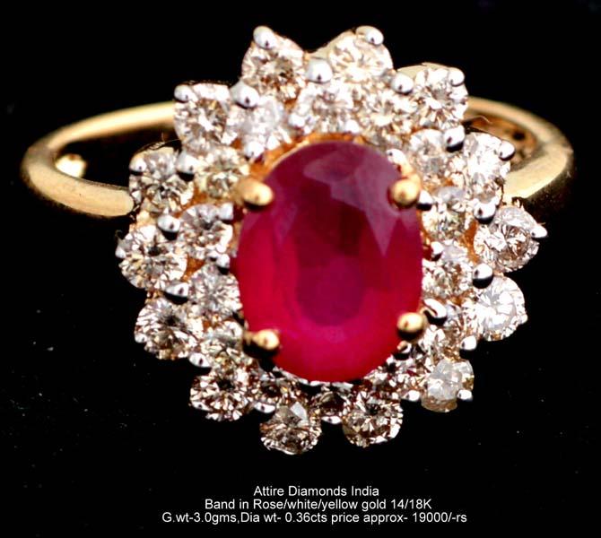 Ladies Colored Diamond Rings