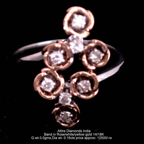 Ladies Rose Gold Diamond Rings Manufacturer Exporter Supplier in