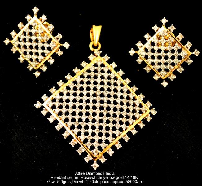 Light Pendant Set Light weight diamond pendant sets manufacturer supplier in meerut india light weight diamond pendant setsatpds j14 audiocablefo