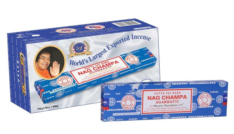 100gm Satya Sai Baba Nag Champa Incense Sticks