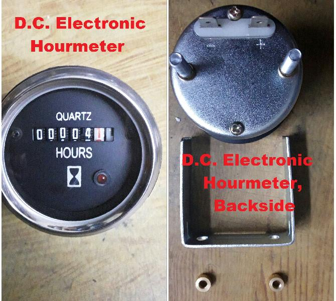 D.C. Electronic Hourmeter 52mm
