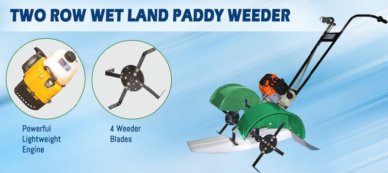 Two Row Wet Land Paddy Weeder