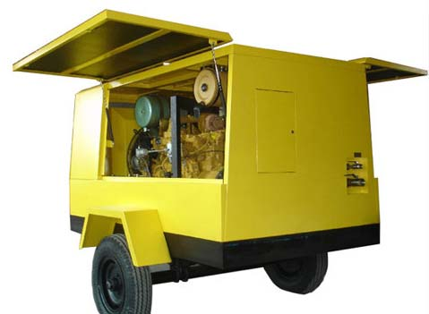 Diesel Oil Screw Compressor (110KW 430CFM,100PSI)