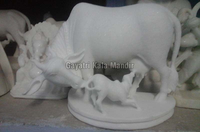 Marble Cow Statue