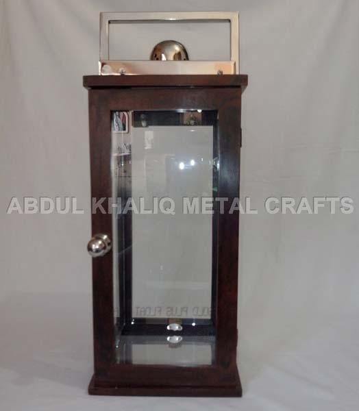 Metal & Wooden Lantern