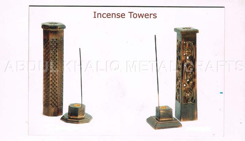 Wooden Tower Incense Burner