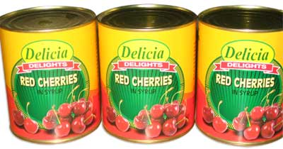 Canned Red Cherries