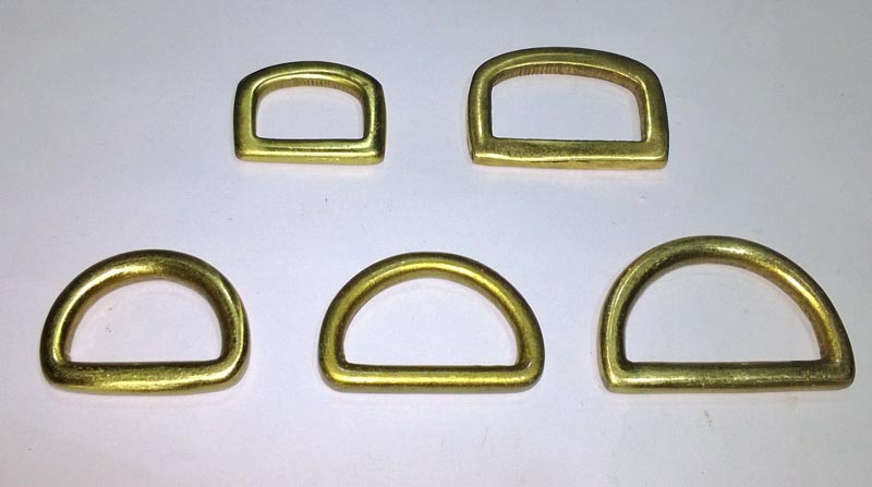 Solid Brass D Rings