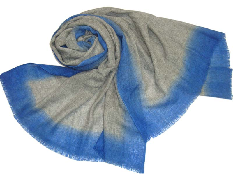 Pashmina Shawls with Ombre Dye