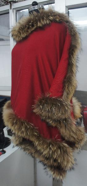 Red silk Pashmina fur shawls 2017
