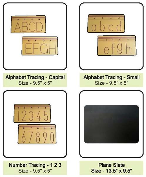 Wooden Alphabet Board Tracing