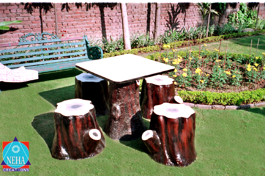 Garden Table and Stool Set