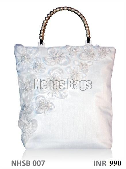 Pure orchid silk hand Bag ( NHSB - 007)